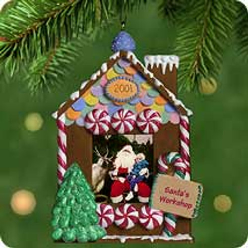 2001 Santa's Workshop Hallmark ornament