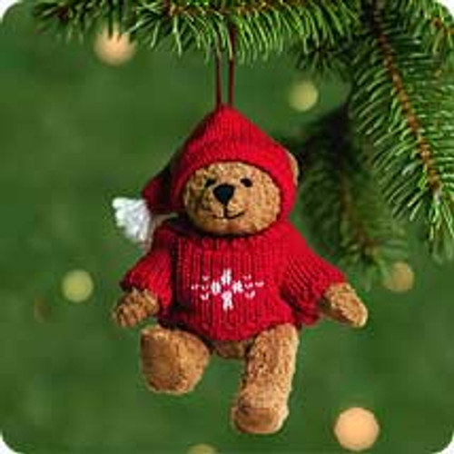 2001 Ready Teddy Hallmark ornament