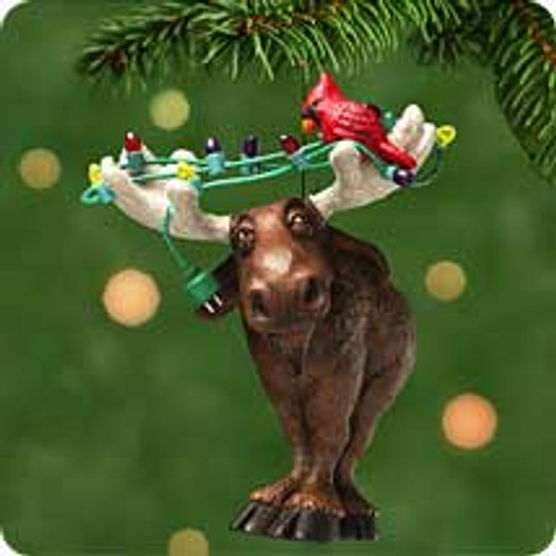 2001 Moose's Merry Christmas Hallmark ornament