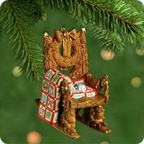 2001 Mrs. Claus Chair Hallmark ornament