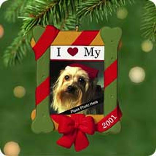 2001 I Love My Dog Hallmark ornament