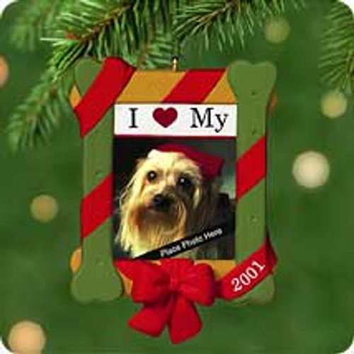 2001 I Love My Dog Hallmark ornament