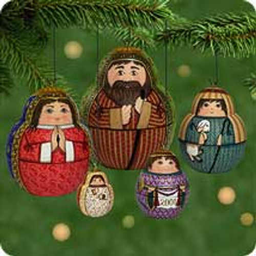2001 Nesting Nativity Hallmark ornament
