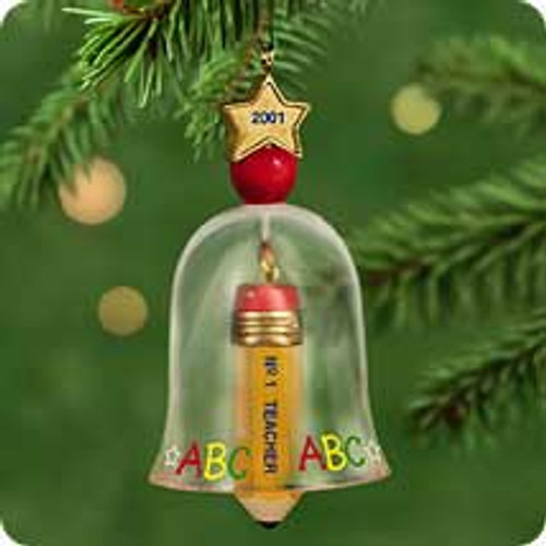 2001 No 1 Teacher Hallmark ornament