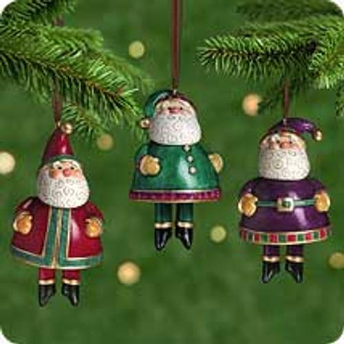 2001 Jolly Santa Bells Hallmark ornament