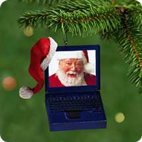 2001 Laptop Santa Hallmark ornament