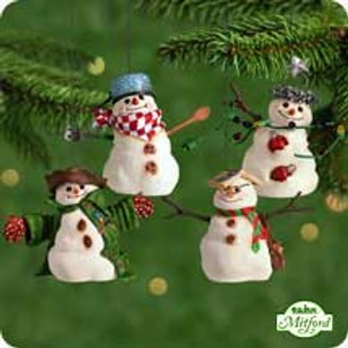 2001 Mitford Snowmen Hallmark ornament