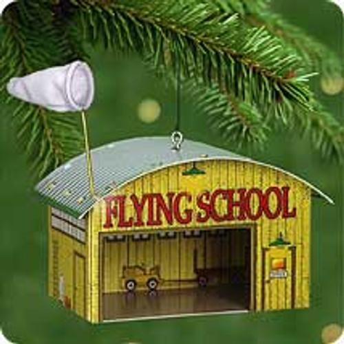2001 Flying School - Hangar Hallmark ornament