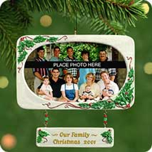 2001 Our Family - Photoholder Hallmark ornament