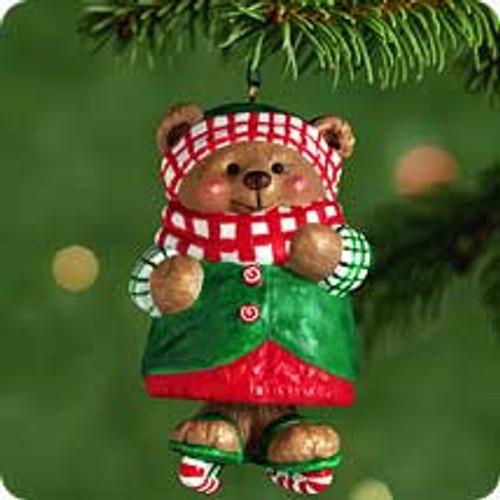 2001 Skatin Sugar Bear Bell Hallmark ornament
