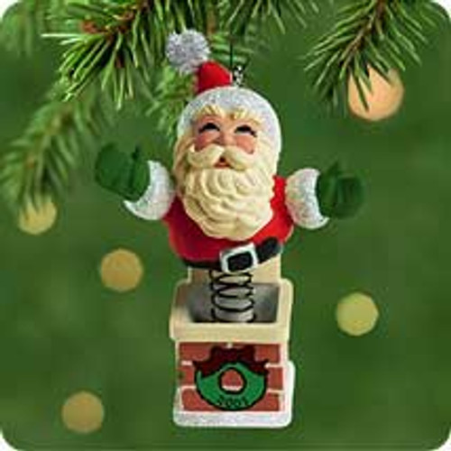 2001 Springing Santa Hallmark ornament