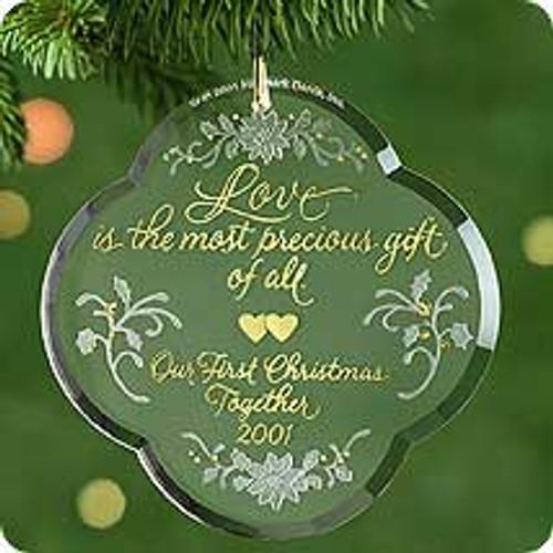 2001 1st Christmas Together - Acrylic Hallmark ornament