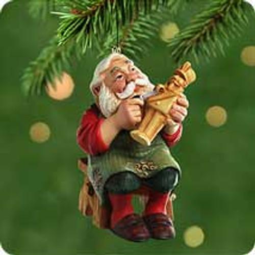 2001 Carving Santa Hallmark ornament