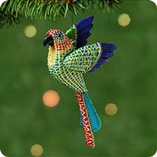 2001 Christmas Parrot Hallmark ornament