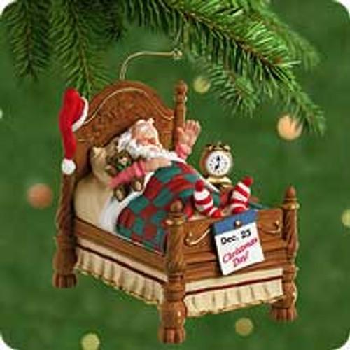 2001 Snoozing Santa Hallmark ornament
