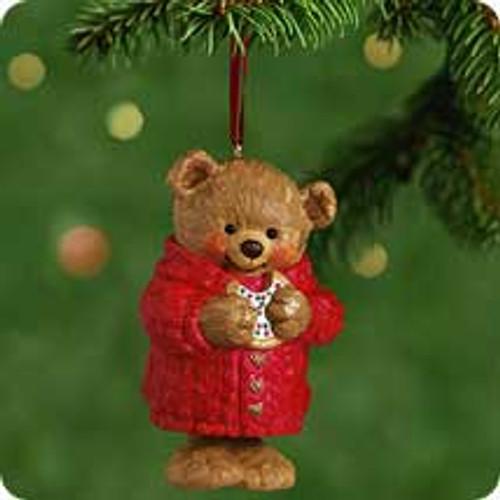 2001 Snuggly Sugar Bear Bell Hallmark ornament