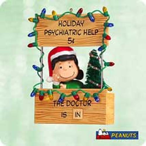 2003 Peanuts - Advice Booth Hallmark ornament