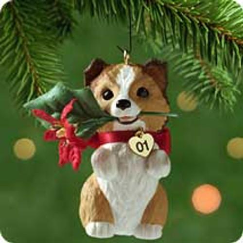 2001 Puppy Love #11 - Sheltie Hallmark ornament