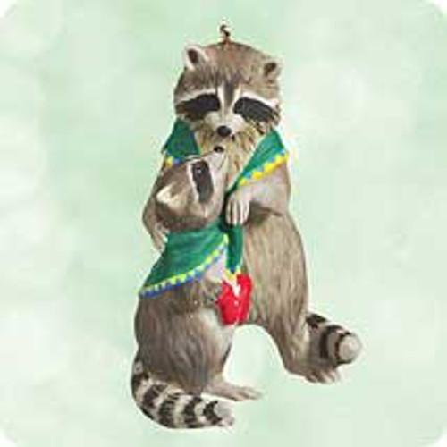 2003 Safe and Snug #3F - Raccoons Hallmark ornament