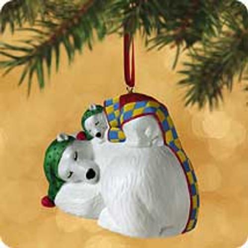 2002 Safe And Snug #2 - Polar Bears Hallmark ornament