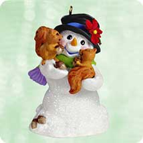 2003 Snow Buddies #6 - Squirrels Hallmark ornament