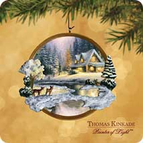 2002 Thomas Kinkade - Deer Creek Hallmark ornament