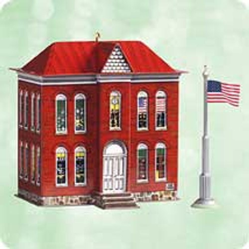 2003 Town and Country #5 - School House Hallmark ornament