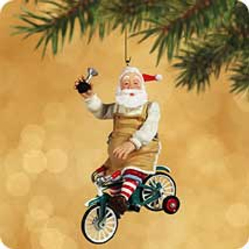 2002 Toymaker Santa #3 Hallmark ornament