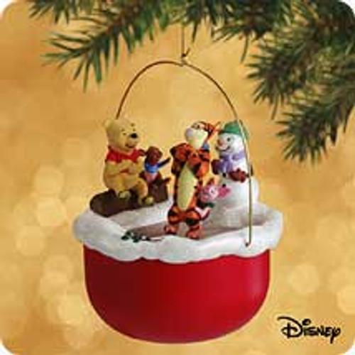 2002 Winnie The Pooh - Skating In Circles Hallmark ornament