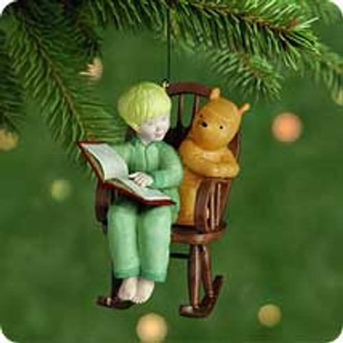 2001 Winnie The Pooh #3F- Story For Pooh Hallmark ornament