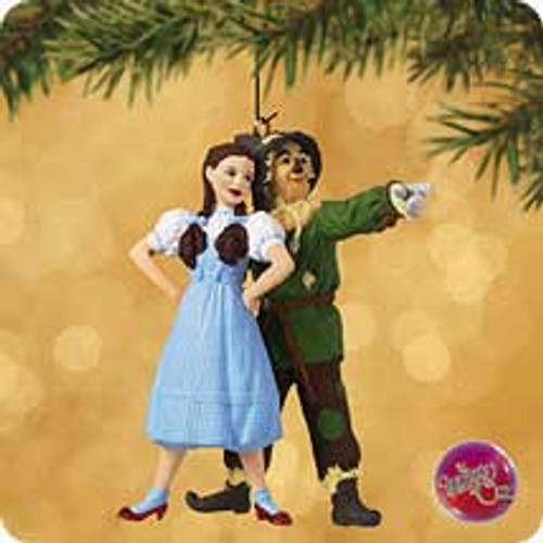 2002 Wizard Of Oz - Dorothy And Scarecrow Hallmark ornament
