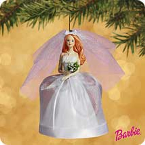 2002 Barbie - Bride - Auburn Hallmark ornament