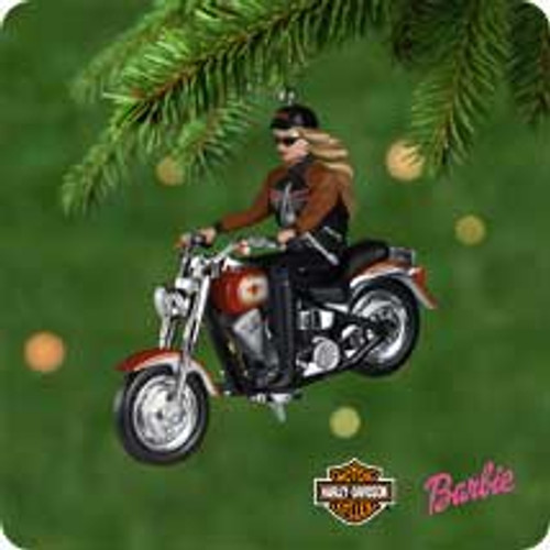 2001 Barbie - Harley Hallmark ornament