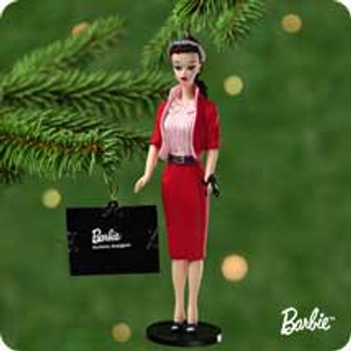 2001 Barbie - Debut #8 - Busy Gal Hallmark ornament