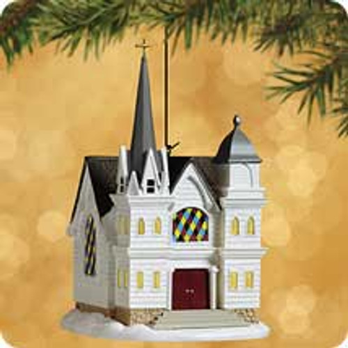 2002 Candlelight Services #5 - Country Church Hallmark ornament