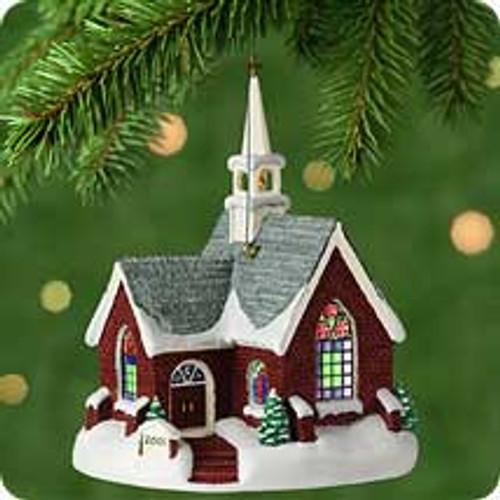 2001 Candlelight Services #4 - Brick Church Hallmark ornament