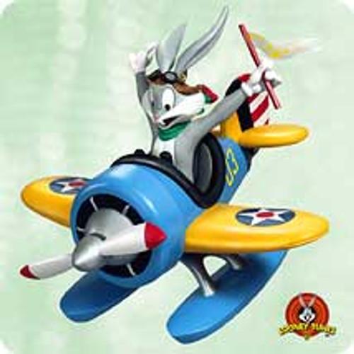 2003 Looney Tunes - Bugs In Plane Hallmark ornament