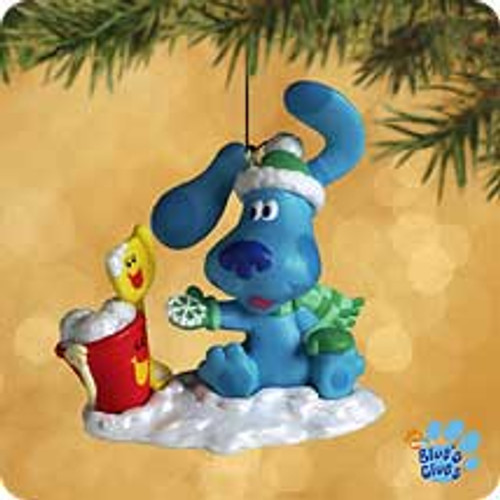 2002 Blue's Clues - 1st Snow Hallmark ornament