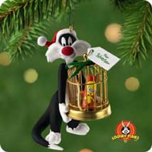 2001 LT Sylvester's Bang Up Gift Hallmark ornament