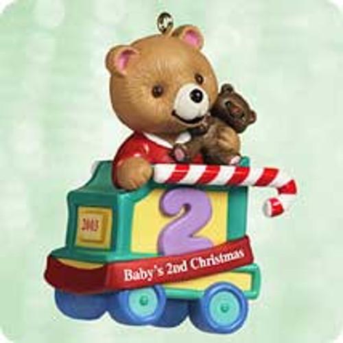 2003 Baby's 2nd Christmas - Bear Hallmark ornament
