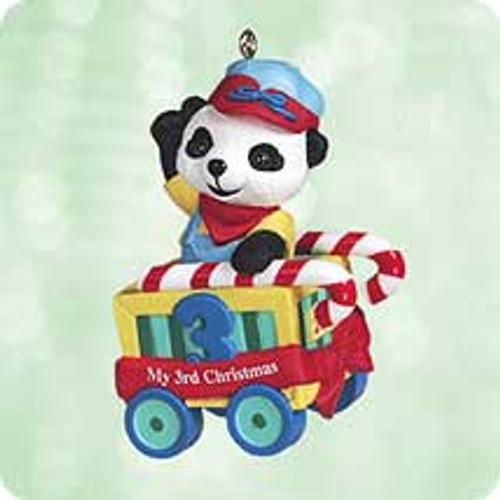 2003 Child's 3rd Christmas Bear Hallmark ornament