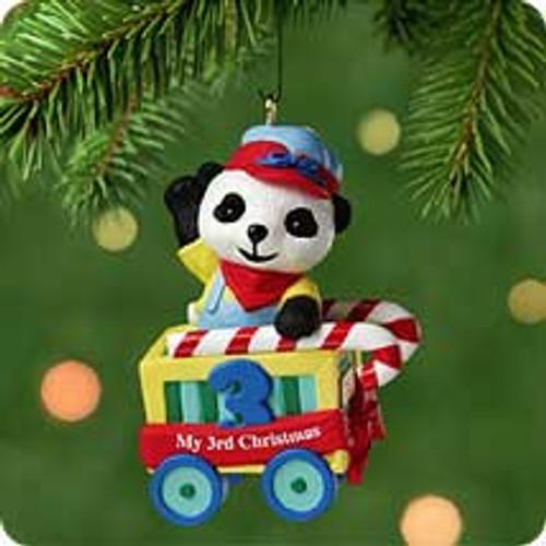 2001 Child's 3rd Christmas - Bear Hallmark ornament