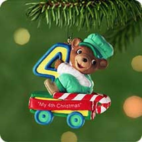 2001 Child's 4th Christmas - Bear Hallmark ornament