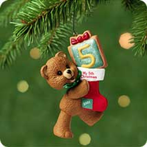 2001 Child's 5th Christmas - Bear Hallmark ornament