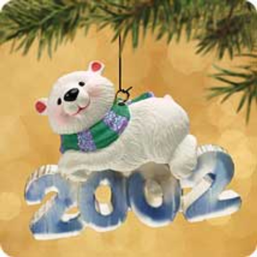 2002 Cool Decade #3 - Polar Bear Hallmark ornament