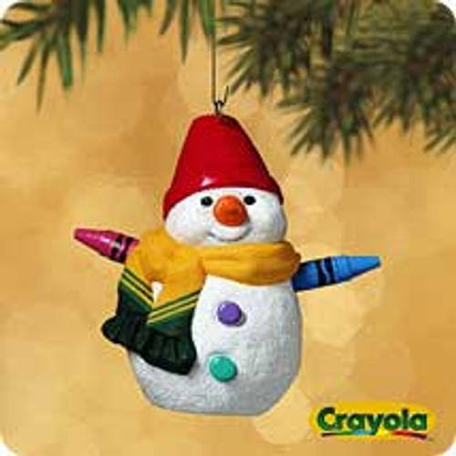 2002 Crayola - Rainbow Snowman Hallmark ornament