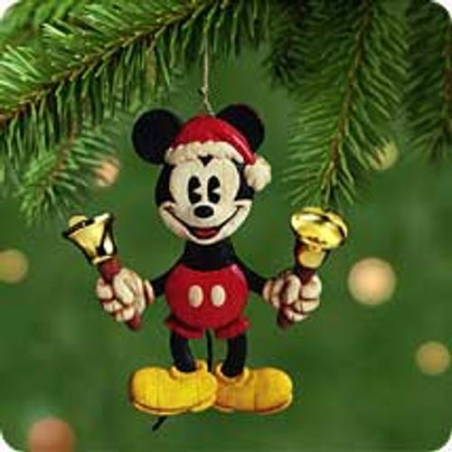 2001 Disney - Bell Ringing Santa Hallmark ornament