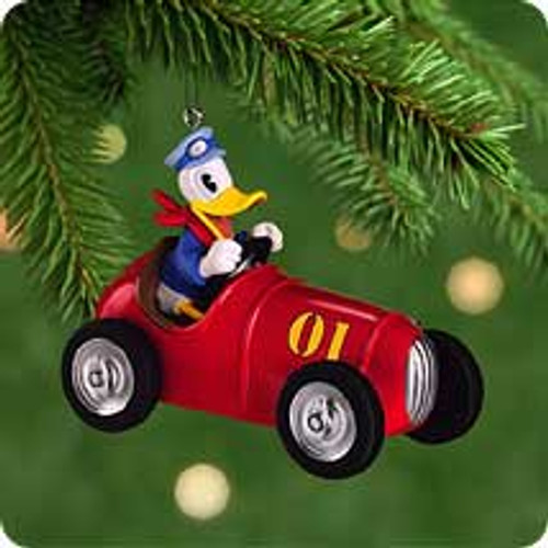 2001 Disney - Donald Motoring Hallmark ornament