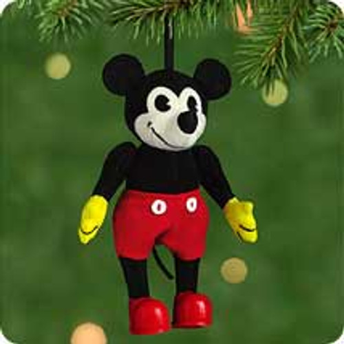 2001 Disney - Fabric Mickey Hallmark ornament