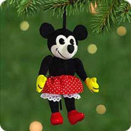 2001 Disney - Fabric Minnie Hallmark ornament